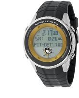 Game Time Pittsburgh Penguins Silver Tone Digital Schedule Watch - NHL-SW-PIT - Men