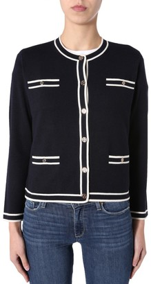 Tory Burch Kendra Contrast Trimmed Cardigan