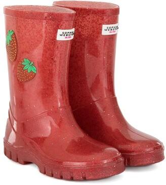 Sophia Webster Mini Strawberry wellies