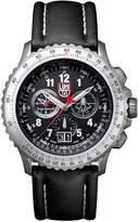 Luminox 9241 Men's Air F-22 Raptor 9240 Black Dial Black Leather Strap Chrono Dive Watch