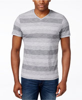 Alfani Men's Slim Striped V-Neck T-Shirt, Only at Macy's