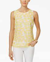 Charter Club Floral-Lace Tank Top, Only at Macy's