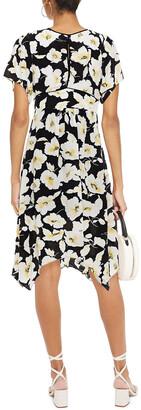 BA&SH Fairy Shirred Floral-print Crepe Midi Dress