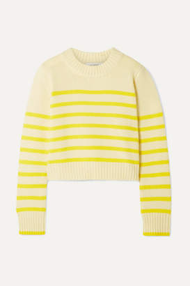 La Ligne Mini Marin Striped Wool And Cashmere-blend Sweater - Yellow