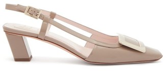 Roger Vivier Belle Vivier Buckle Patent-leather Slingback Pumps - Beige