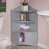 RiverRidge Ashland Gray Storage Corner Cabinet