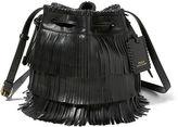 Polo Ralph Lauren Mini Fringe Leather Bucket Bag