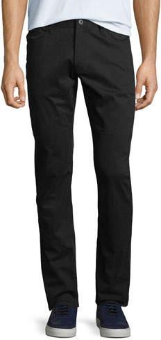 Emporio Armani Men's Stretch-Satin Straight-Leg Pants