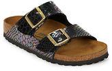 Birkenstock Arizona SnakeEmbossed Leather Sandals