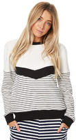 Swell V Stripe Panel Crew White