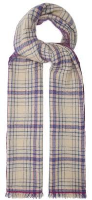 Isabel Marant Dash Tartan Wool-blend Scarf - Blue White