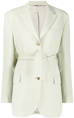 Acne Studios Belted Single-Breasted Blazer