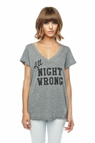 Local Celebrity All Night Wrong Jovi Tee in Heather Grey