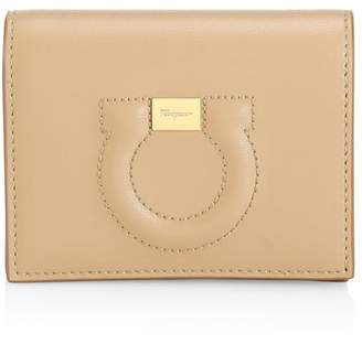 Salvatore Ferragamo Gancio City Leather Wallet