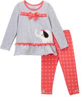Nannette Gray & Pink Elephant Tunic & Leggings - Girls