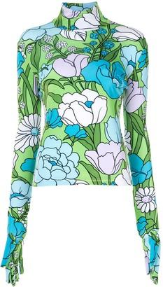 Richard Quinn floral print blouse