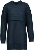 Michelle Mason Layered ribbed-knit sweater