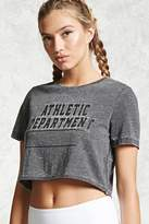Forever 21 Active Graphic Crop Top