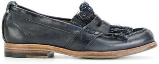 Sartori Gold Distressed Loafers