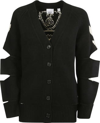 Burberry Cut-out Sleeve Cardigan