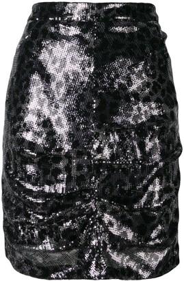 MSGM Sequin Pencil Skirt