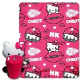 Hello Kitty NFL Chief Blanket and Hugger Bundle (40 x 50)
