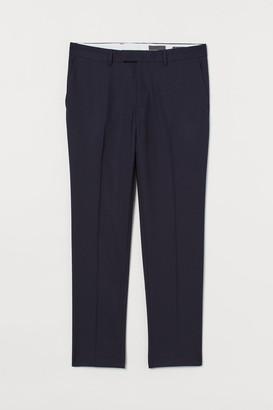 H&M Slim Fit Wool Suit Pants - Blue