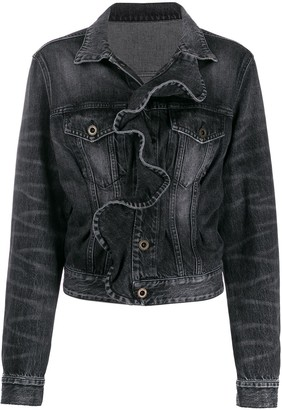 Unravel Project ruffled denim jacket