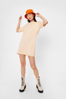 Nasty Gal Womens Tell Tee About It Relaxed Mini Dress - Sand