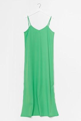 Nasty Gal Womens Sunset Lover V-Neck Midi Dress - Olive
