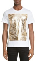 Versace Men's Large Box Foil Print T-Shirt