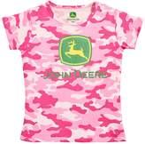 John Deere Girls 4-6x Logo Crewneck Tee