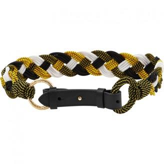 Diane von Furstenberg Yellow Cloth Belts