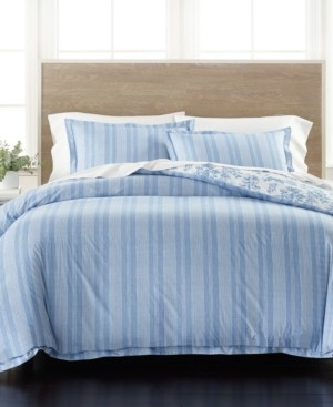 Martha Stewart Collection Percale Stripe Reversible King 3-Pc. Comforter Set, Created for Macy's