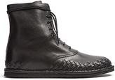 Bottega Veneta Intrecciato Leather Lace-up Boots