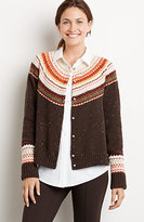 J. Jill Country Fair Isle Cardigan