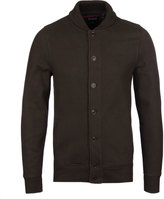 Barbour Hetton Dark Olive Button Through Cardigan