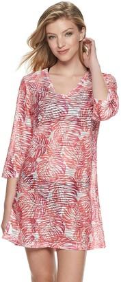 Apt. 9 Women's Palm Print Tunic Cover Up