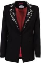 Black Embroidered Lapel Jacket Nerea