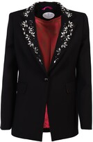 The Extreme Collection Black Embroidered Lapel Jacket Nerea