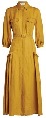 Gabriela Hearst Woodward Midi Dress