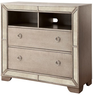 Furniture of America Gevi Modern 46-inch Silver Solid Wood Media Chest
