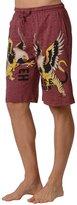 Ed Hardy Men's Eagle Tiger Lounge Shorts - Rose