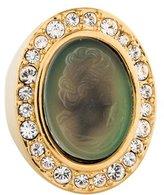 St. John Crystal Cameo Mood Ring