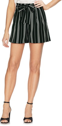 Vince Camuto Striped Tie Waist Shorts