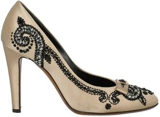 Moschino Beige Cloth Heels