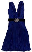 Roberto Cavalli Pleated Knee-Length Dress