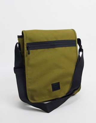 Herschel lane messenger bag in khaki green