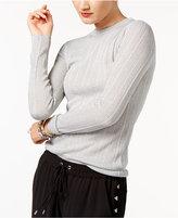 MICHAEL Michael Kors Ribbed Metallic Sweater