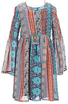Xtraordinary Little Girls 4-6X Printed Bell Sleeve Baby-Doll Dress